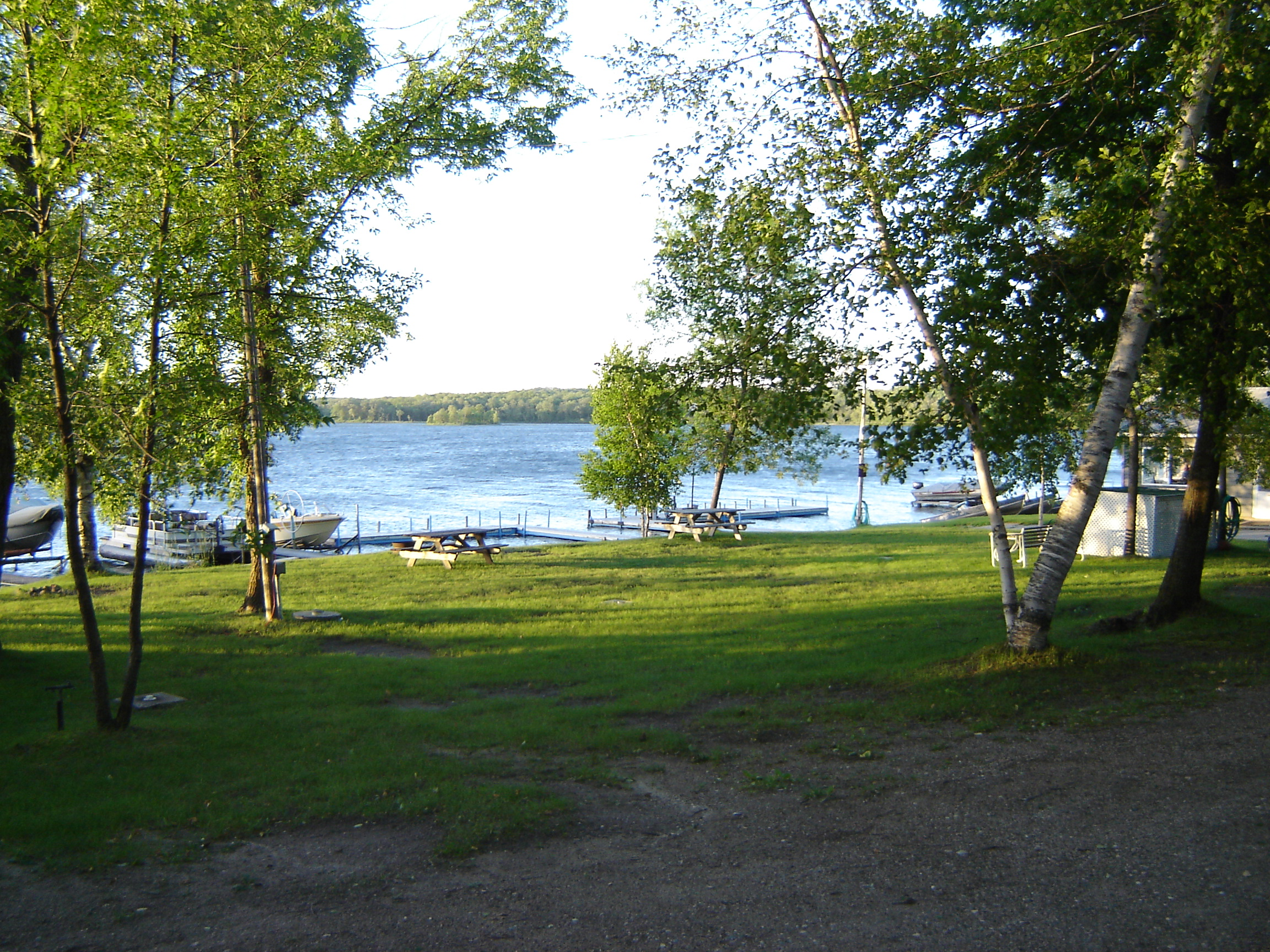 cabins rent dock minnesota view of lost another valley for a resort